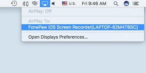 escoger grabador Airplay en iOS