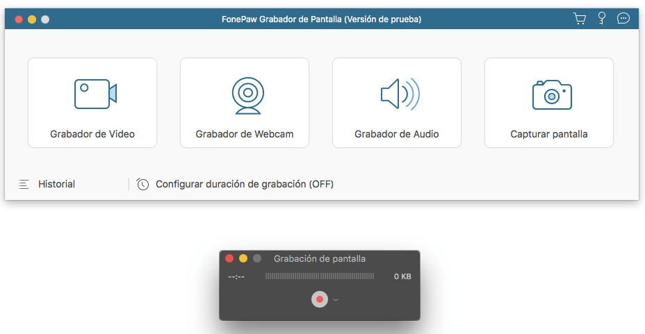comparar grabador de FonePaw con el de QuickTime