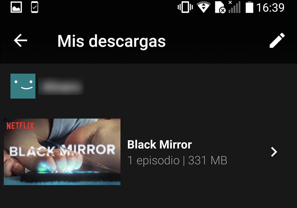 mis descargas en Netflix