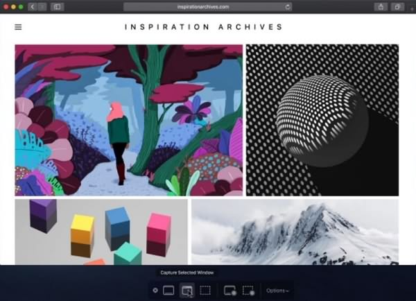 capturar la pantalla de Mac