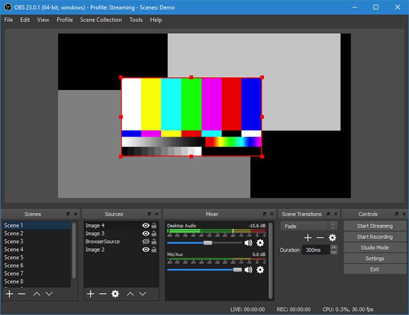 OBS Studio Grabador de Pantalla de código abierto