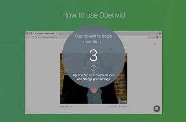 OpenVid Grabador de Pantalla para Chrome