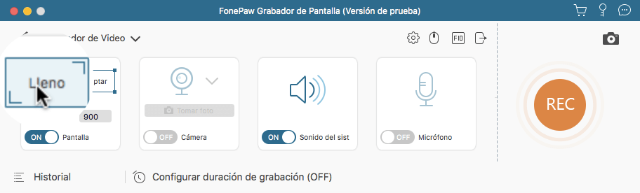 FonePaw Grabador de Pantalla para Mac