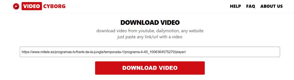 Pegar la dirección URL del video