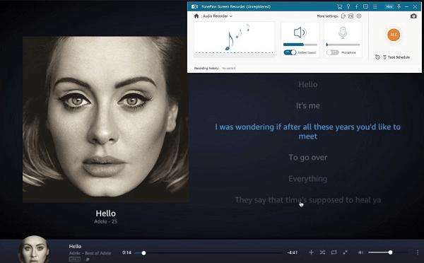 Preparar a copiar Amazon Prime Music