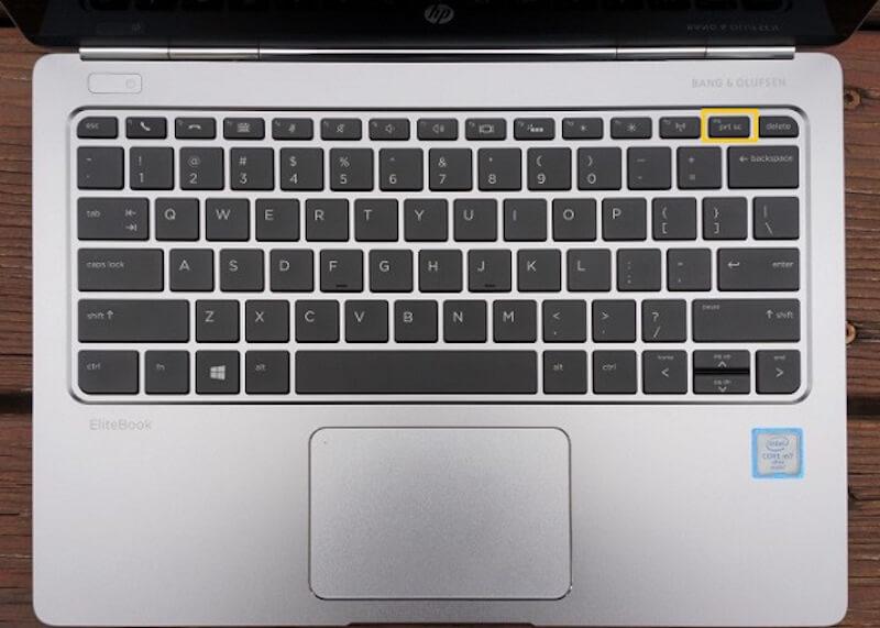 prtsc botón en PC HP
