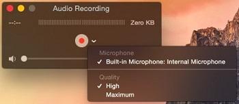 grabar el audio con QuickTime