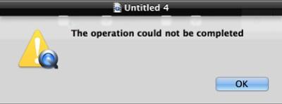 La operación de QuickTime no puede ser completada