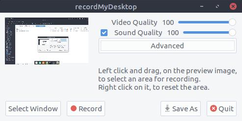 recordMY Desktop Grabador de Pantalla de código abierto