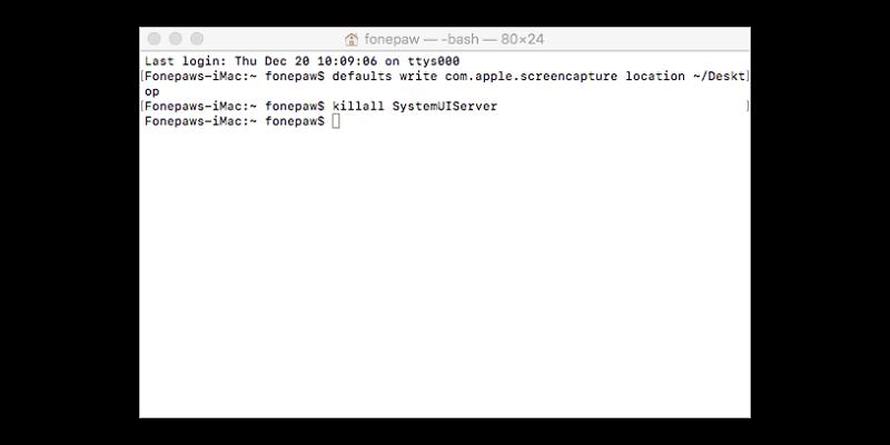 restablecer locación donde guarda captura de imagen Mac