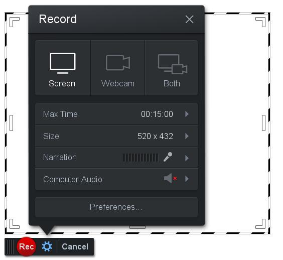 Screencast-O-Matic Grabador de Pantalla online