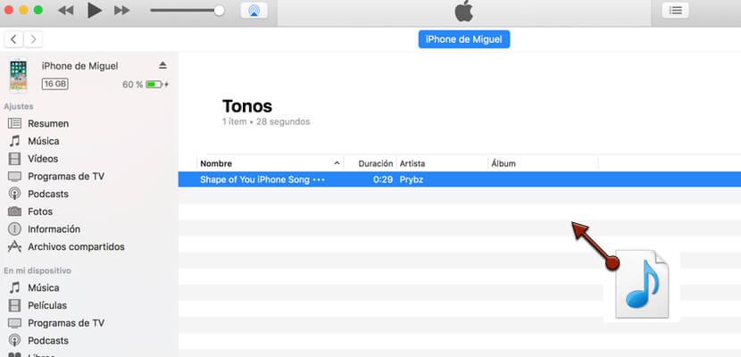 tonos en iTunes