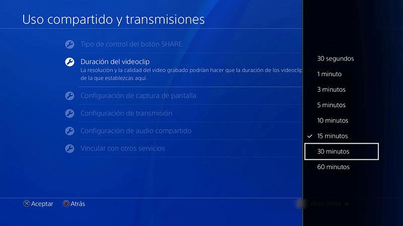 uso compartido y transmisiones de PS4