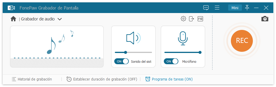FonePaw Grabadora de Audio