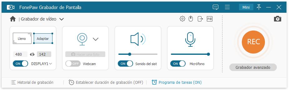 Grabar pantalla con sonido