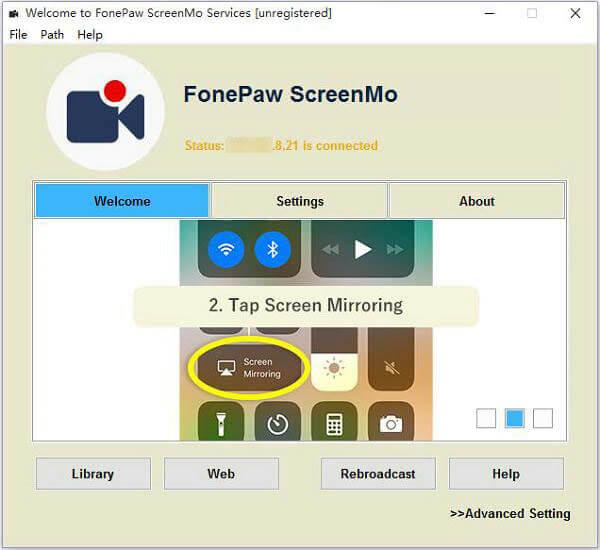 Conectarse con el duplicador de pantalla iOS