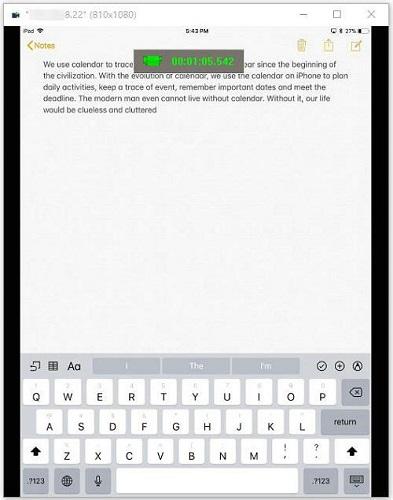 Terminar la captura de pantalla iOS