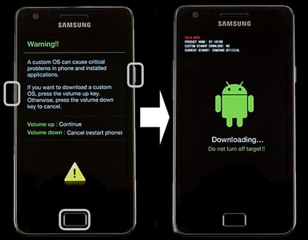 Samsung modo Descarga