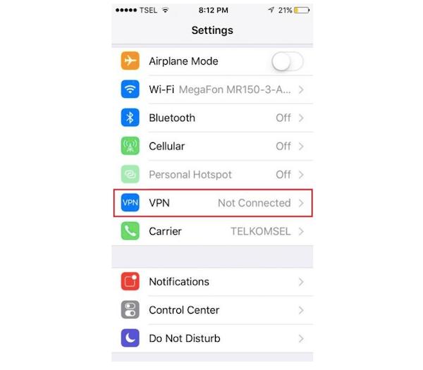 Apagar VPN