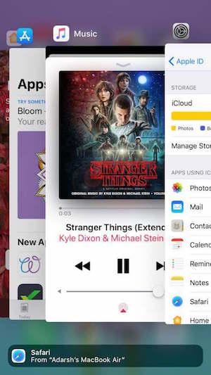 App en segundo plano ejecutando