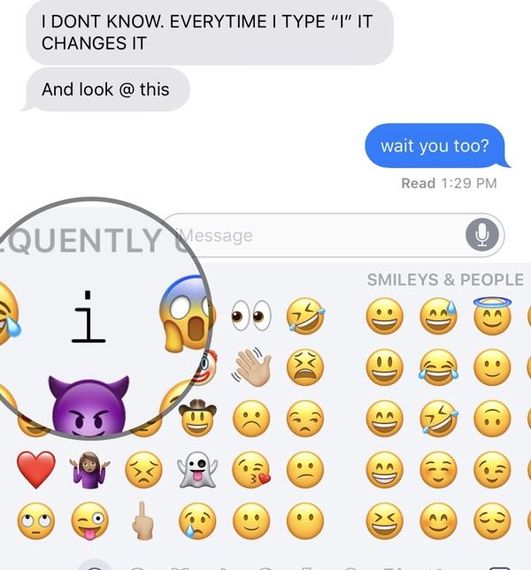 Bug texto predictivo en Emojis