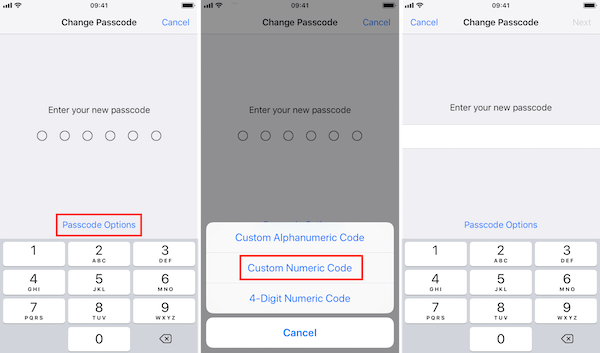 Código numérico personalizado