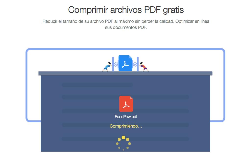 comprimiendo archivo PDF