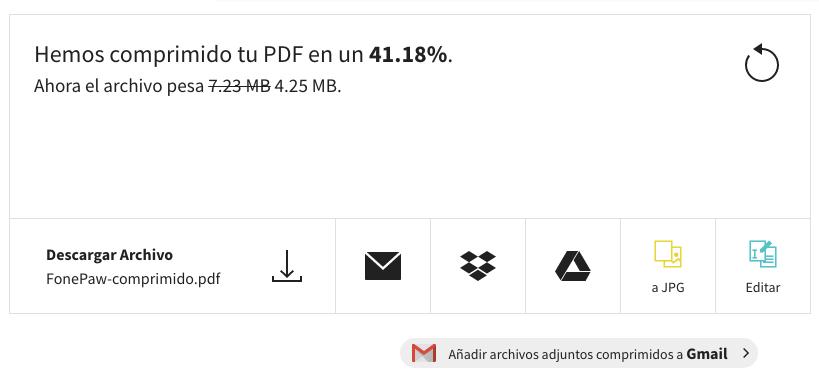 comprimir archivo PDF con Smallpdf