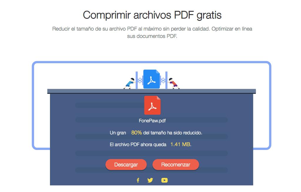 comprimir archivo PDF