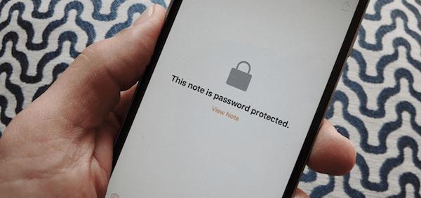 Desbloquear nota iPhone
