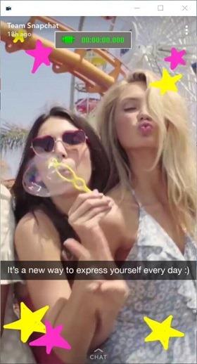 grabar vídeo de Snapchat