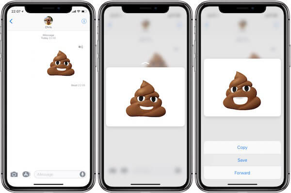 Guardar animoji con 3D touch