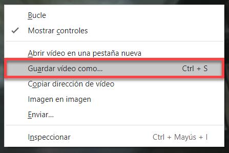 Seleccionar guardar video como