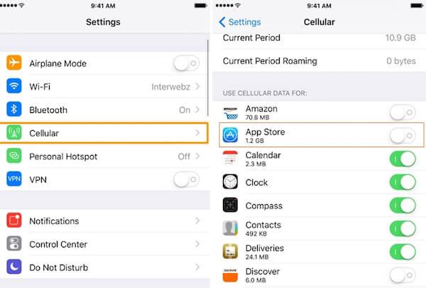 Habilitar datos App Store