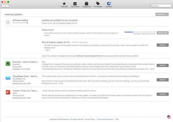 instalar actualización iTunes Mac