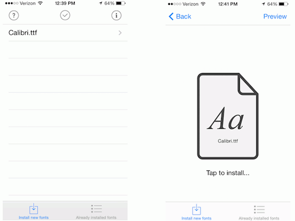 Instalar letras en AnyFont