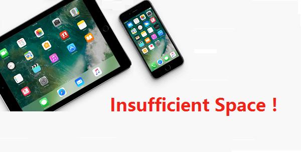 iOS 12 espacio no suficiente