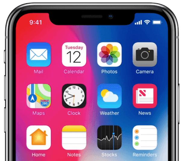 Muesca de iPhone X