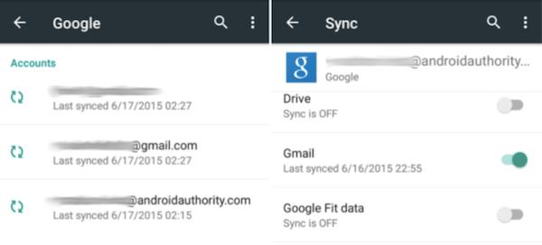 Problema de sincronización google