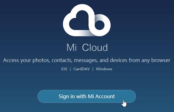 registrar en cuenta de Mi Cloud