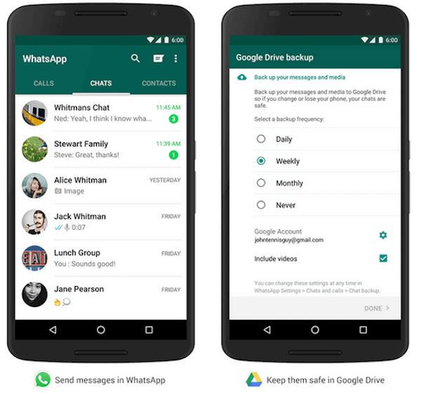 Respaldo Google Drive WhatsApprive WhatsApp