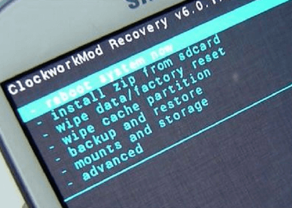 restablecer android en modo recovery