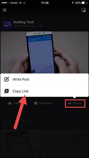 Seleccionar compartir vídeo