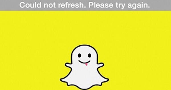 Snapchat no se actualiza