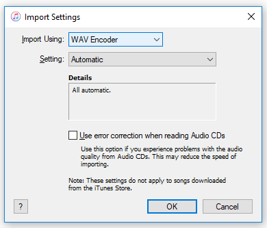 WAV Encoder iTunes