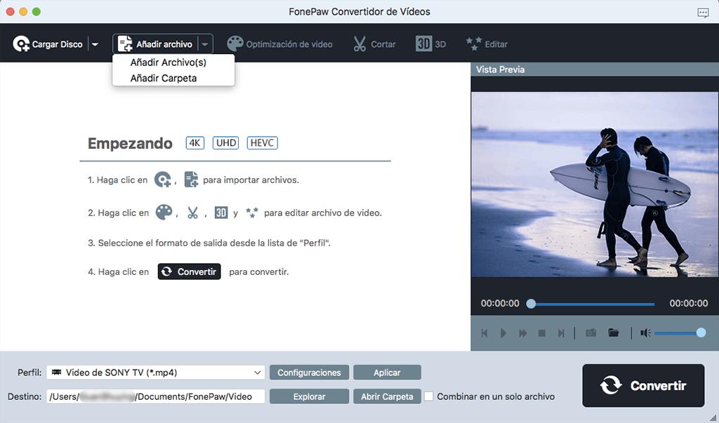 añadir audio WMA a Convertidor de Vídeo para Mac